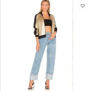 Blank NYC moo dust sequin bomber